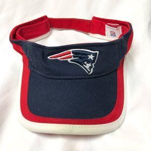NFL New England Patriots hat/visor red/blue one sz
